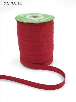 ~3/8 Inch Light-Weight Flat Grosgrain Ribbon with Woven Edge - GN-38-14 Red