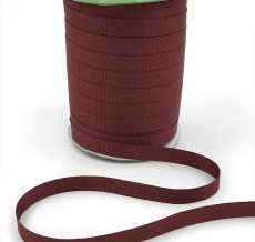 ~3/8 Inch Light-Weight Flat Grosgrain Ribbon with Woven Edge - GN-38-25 Burgundy