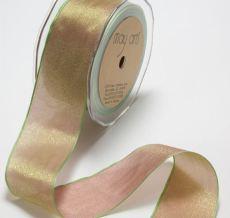 2 Inch Woven Iridescent Ribbon - KA22 - MAUVE/SAGE