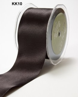 3 Inch Single Faced Satin Cut on the Bias Ribbon with Cut Edge - KK10 - BLACK