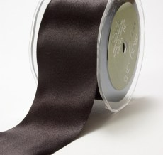 2 Inch Single Faced Satin Cut on the Bias Ribbon with Cut Edge - KK10 - BLACK