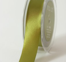 1 Inch Single Faced Satin Cut on the Bias Ribbon with Cut Edge - KK16 - OLIVE