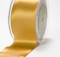 3 Inch Single Faced Satin Cut on the Bias Ribbon with Cut Edge - KK30 - GOLD