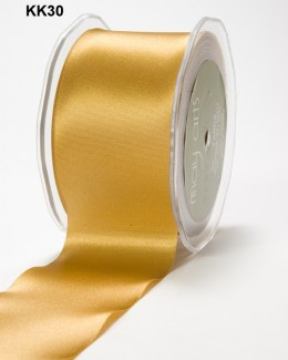 2 Inch Single Faced Satin Cut on the Bias Ribbon with Cut Edge - KK30 - GOLD
