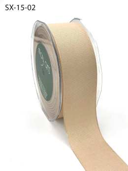 1.5 Inch Heavy-Weight (higher thread count) Classic Grosgrain Ribbon with Woven Edge - SX-15-02 Champagne