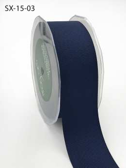 1.5 Inch Heavy-Weight (higher thread count) Classic Grosgrain Ribbon with Woven Edge - SX-15-03 Navy