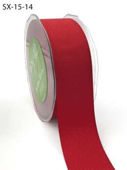 1.5 Inch Heavy-Weight (higher thread count) Classic Grosgrain Ribbon with Woven Edge - SX-15-14 Red