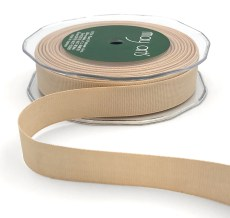 3/4 Inch Heavy-Weight (higher thread count) Classic Grosgrain Ribbon with Woven Edge - SX-34-02 Champagne