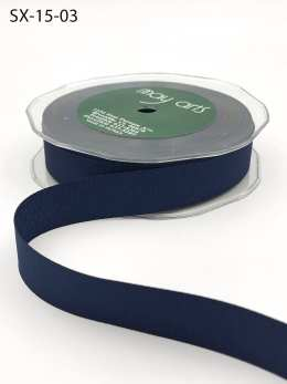 3/4 Inch Heavy-Weight (higher thread count) Classic Grosgrain Ribbon with Woven Edge - SX-34-03 Navy