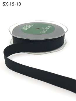 3/4 Inch Heavy-Weight (higher thread count) Classic Grosgrain Ribbon with Woven Edge - SX-34-10 Black