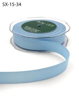 3/4 Inch Heavy-Weight (higher thread count) Classic Grosgrain Ribbon with Woven Edge - SX-34-34 Light Blue