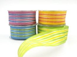 1.5 Inch Solid Stripes Wired Ribbon