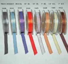 1/2 Inch Woven Iridescent Ribbon