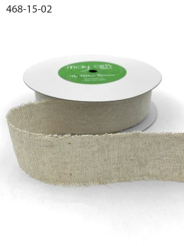 Natural Frayed Edge Linen Cotton Ribbon