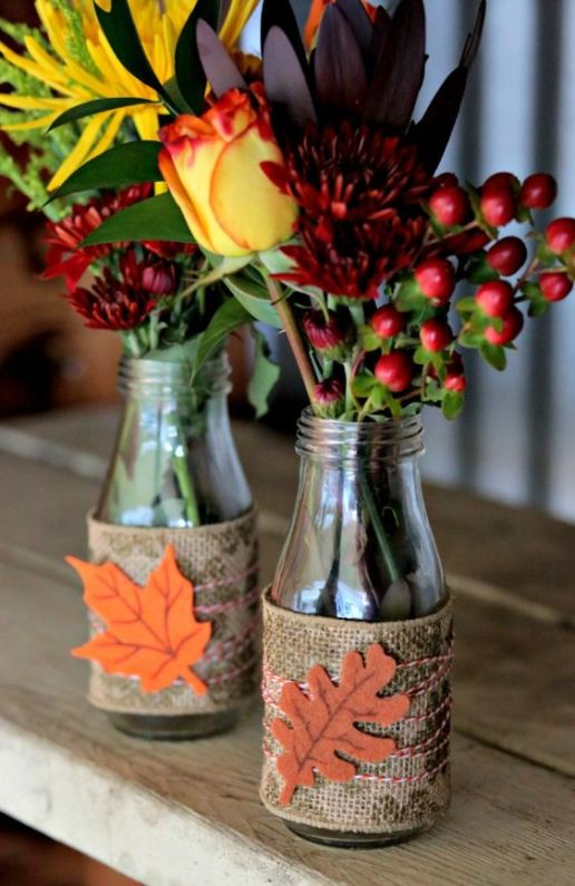 DIY Thanskgiving Table Vases