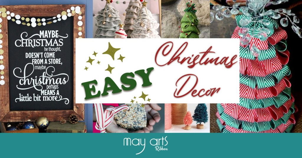 Easy DIY Christmas Decorating Ideas With Ribbon