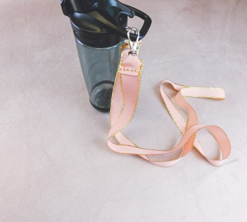 Easy DIY Water Bottle Holder with Ribbon