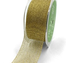 "1.5"" Gold Metallic Knit Net Crochet RIbbon"