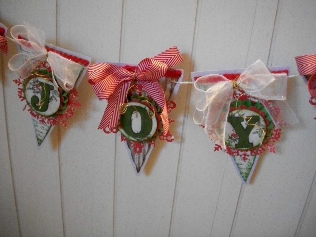 """Joy"" Christmas Banner"