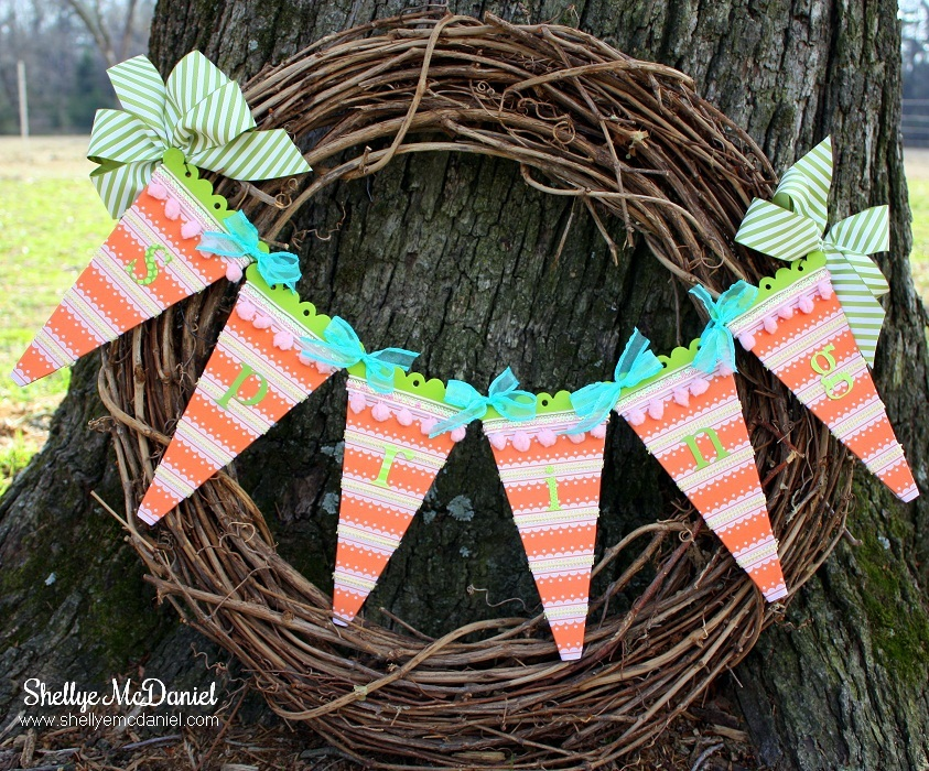 'Welcome Spring' Banner Wreath