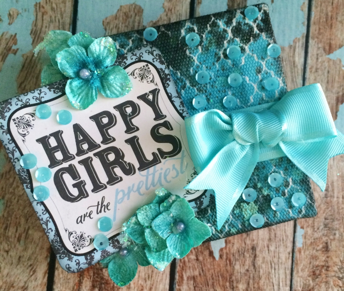 'Happy Girls are the Prettiest' Canvas