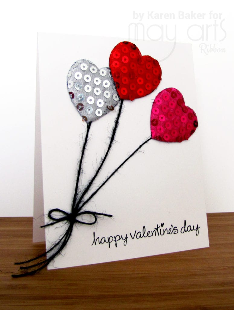 Valentine's Day Card - Heart Balloons