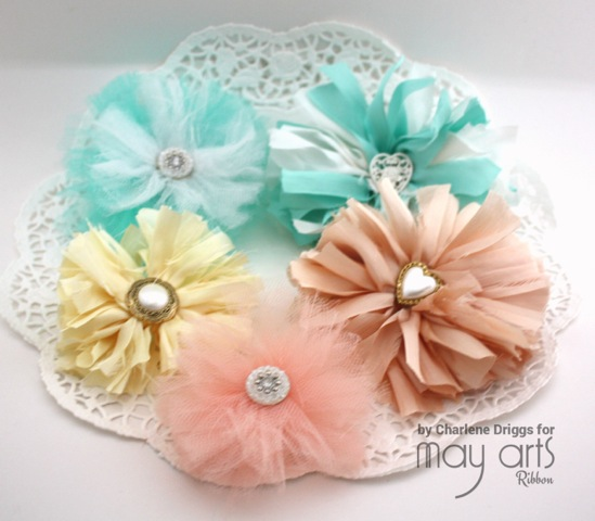 Making Shabby Flowers with Ribbon Scraps