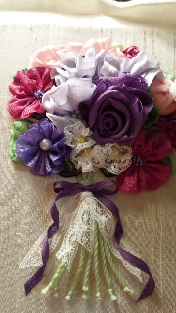 Ribbon Embroidery Flower Bouquet