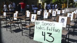 Protesta por normalistas desaparecidos en iguala