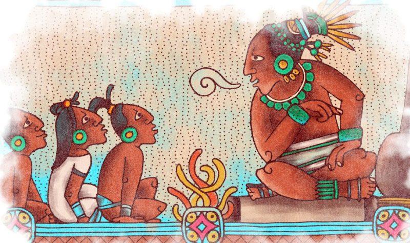 mayas narración oral