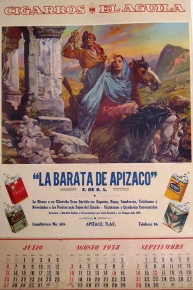 la publicidad en los calendarios mexicanos