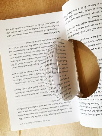 DIY Craft: Book-page Apple