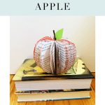 DIY Book Craft: Book-Page Apple