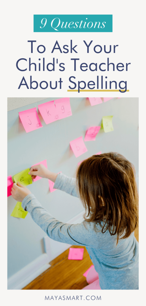 Questions to Ask your Child's Teacher About Spelling