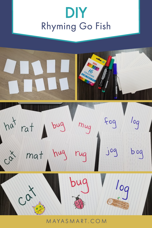 Pictures of materials needed to create Go Fish