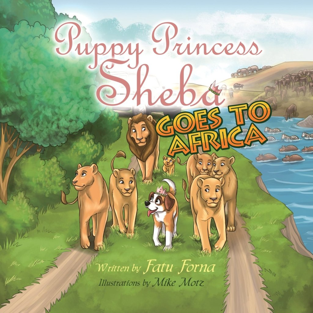 Puppy Princess Sheba Goes to Africa by Fatu Forna book cover