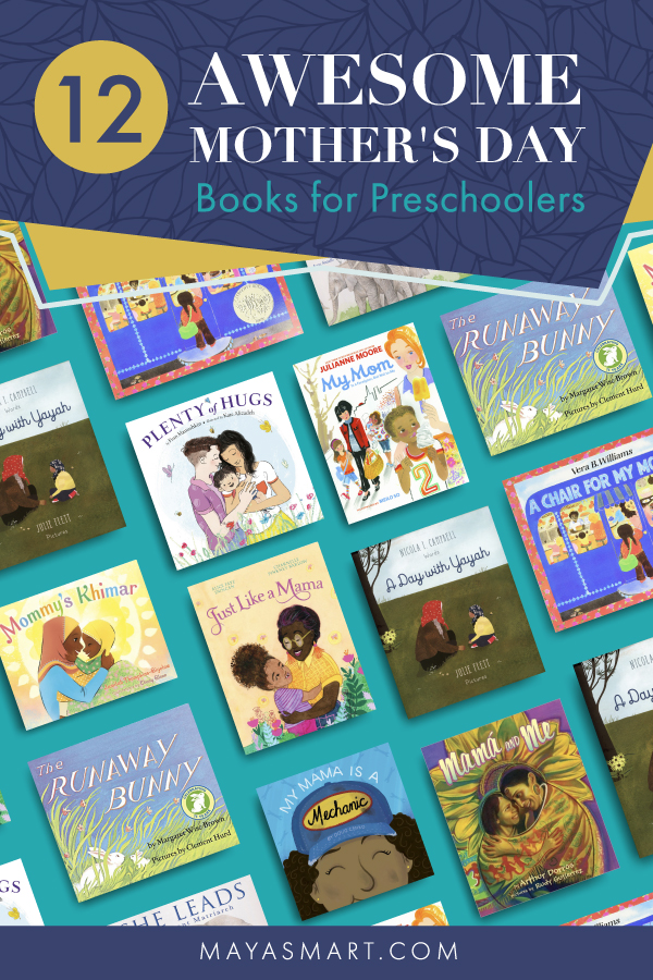 Book covers of picture books for Mother's Day