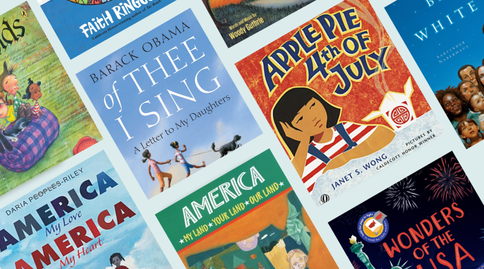 collage of Fourth of July picture books
