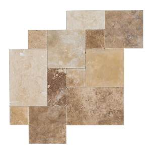 hula mix antique pattern travertine tiles