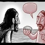 Jesus' Temptation Stones into Bread