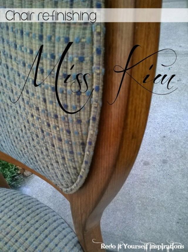 Chair refinishing Miss Kim