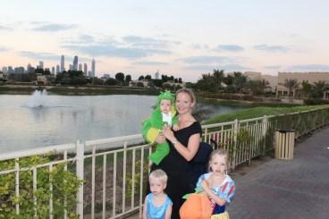 Tindley Gilbert with her three children in Dubai. (Oct. 2012)