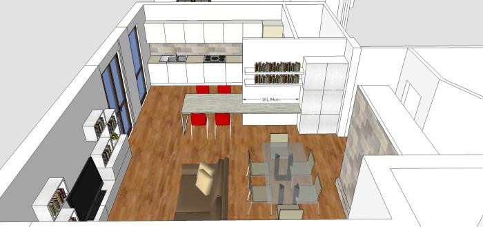 Vorrei consigli riguardanti la grandezza degli arredi, non la loro disposizione. Living Cucina Ingresso E Studio In 50 Mq Mayday Casa Blog E Progetti