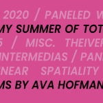 """Ava Hofmann's """"MY MY SUMMER OF TOTAL FFAILURE"""" Book Cover"""