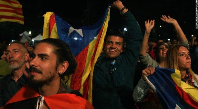 Catalan referendum scores massive vote for independence