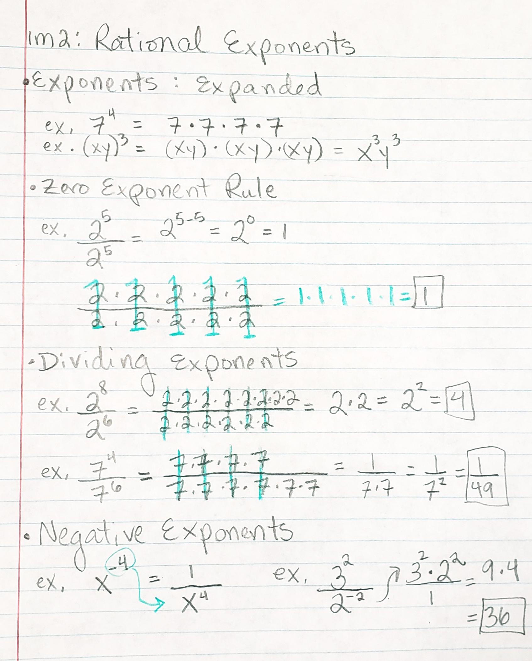 1 1 Explain Rational Exponents Amp Radicals Mrs Mayer S