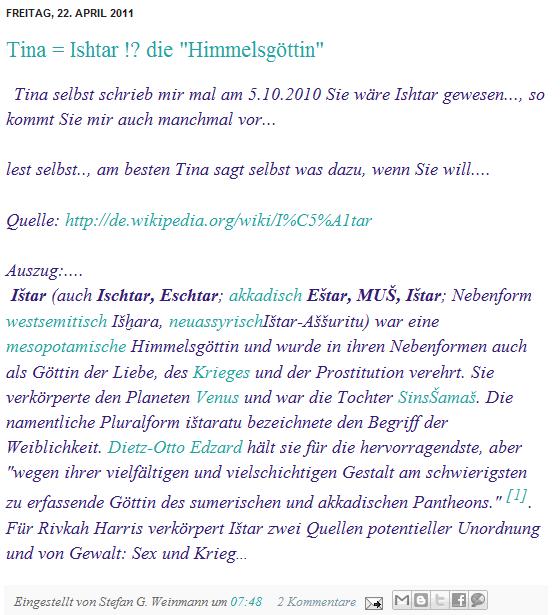 Tina = Ishtar