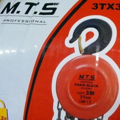 3 ton 3 metre chain block MTS Professional