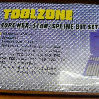 Toolzone 40pc Hex star spinset hexagonal key set