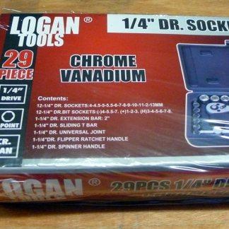 Logan tools 29pc 1/4 Dr socket set